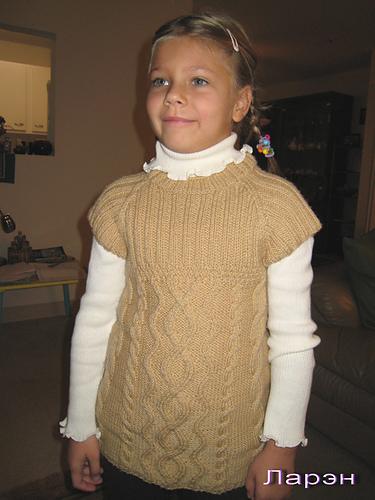 Dívčí podzimní tunika
