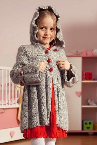 Dětský kabátek s plizováním